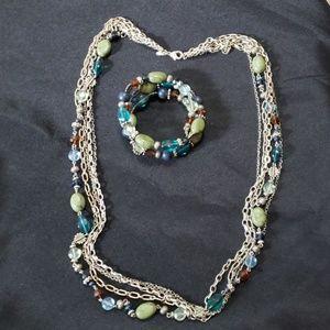 Premier Designs Costa Rica Necklace and Bracelet